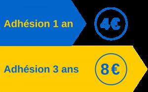Tarifs d'adhésion 2017